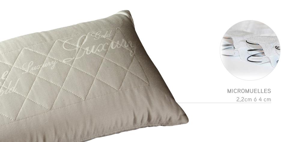 Detalle de los muelles internos de la almohada de Sweetbedding.