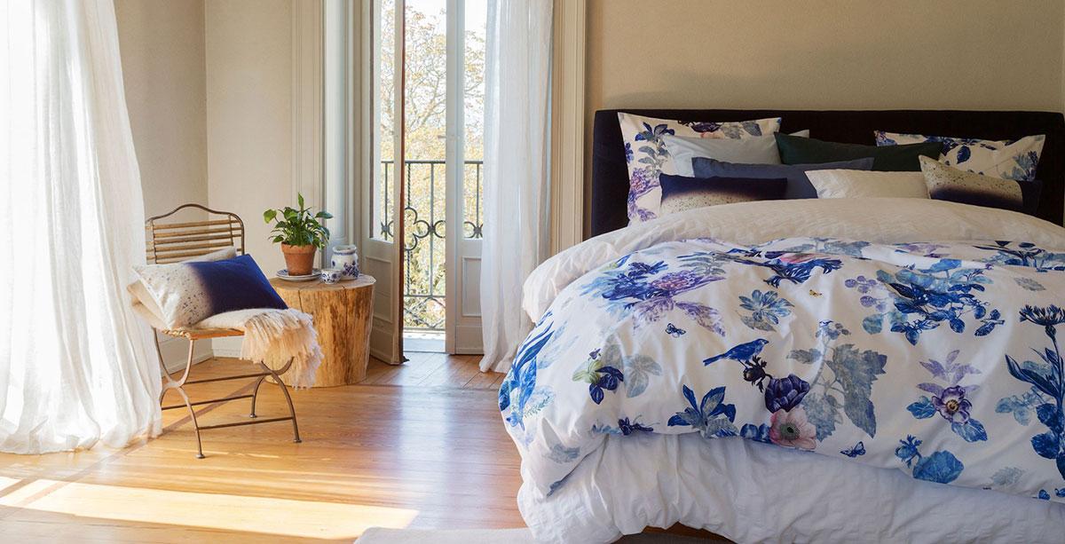 Ropa de cama Christian Fischbacher modelo 'Floralpin'.