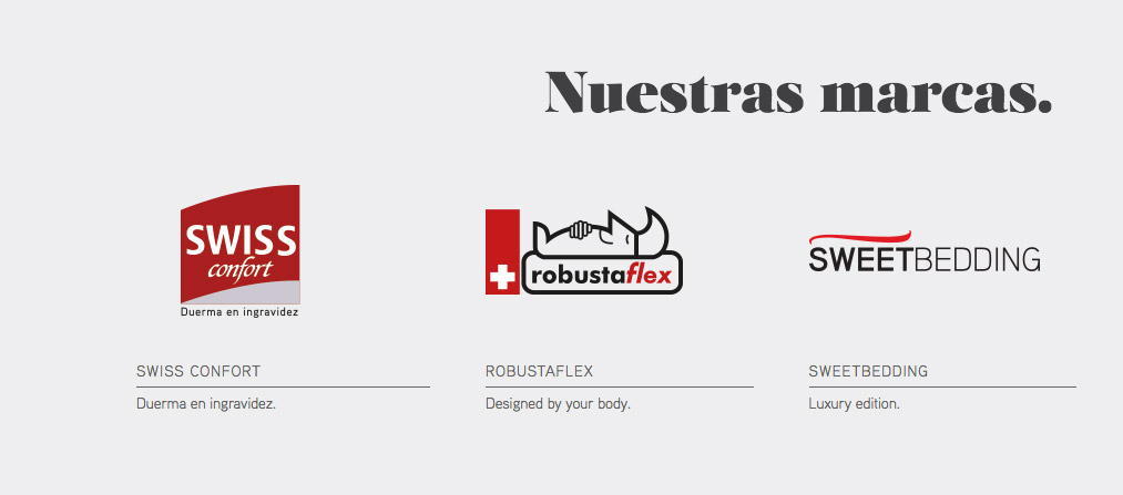 Swiss Confort, Sweetbedding y Robustaflex, las marcas de SB Descanso