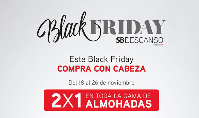 Black Friday de SB Descanso del 18 al 26 de noviembre