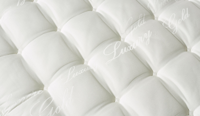 Detalle tejido colchon Suiza Latex Spring de Sweetbedding
