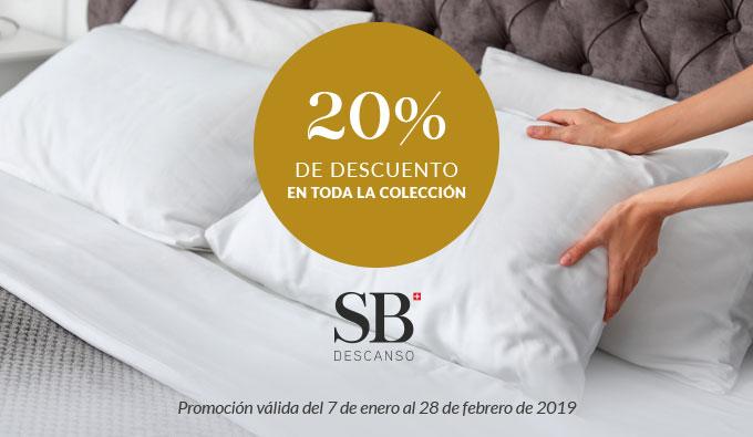 Rebajas 20% de descuento en toda la coleccion de SB Descanso