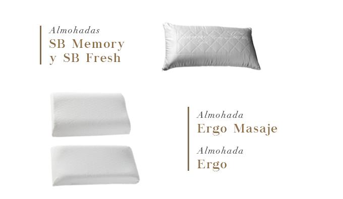 Almohadas SB Memory y SB Fresh y Almohadas Ergo