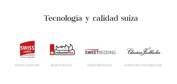 SB Descanso marcas suizas:Swiss Confort, Robustaflex, Swettbbeding y Christian Fischbacher