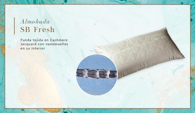 Sweet Plus, almohadas SB Fresh con nanomuelles en su interior