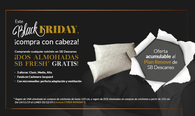 Black Friday y Plan Renove en SB Descanso