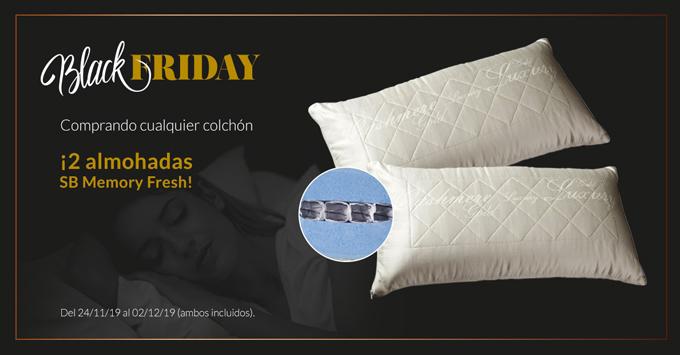 Promoción Black Friday. Comprando cualquier colchón te llevas dos almohadas SB Fresh gratis