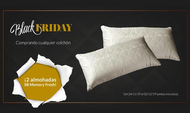 Promoción Black Friday y Plan Renove. Comprando cualquier colchón te llevas dos almohadas SB Fresh gratis