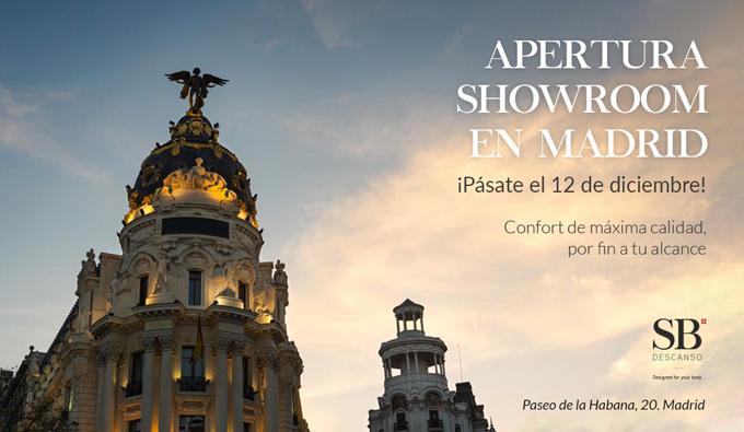Apertura Showroom en Madrid el 12 de diciembre de SB Descanso