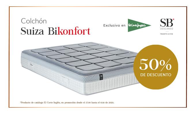Colchón Suiza Bikonfort Al 50 De Descuento En El Corte Inglés Blog Sb Descanso