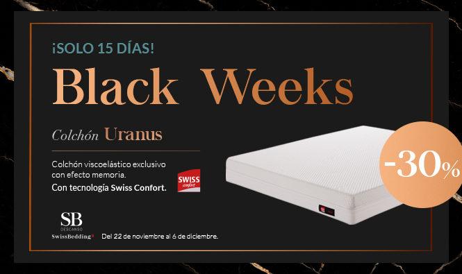 SB Descanso Black Weeks. Colchón Uranus con -30%