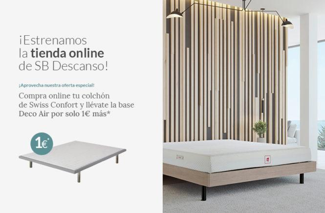 ¡Estrenamos la NUEVA TIENDA ONLINE de SB Descanso! Disfruta de nuestra OFERTA ESPECIAL: compra un colchón Swiss Confort y llévate la base Deco Air por solo 1 € más - Blog - SB Descans