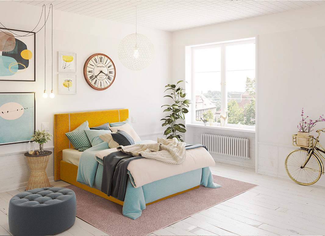 Compra el aro de cama tapizado a juego con tu habitación